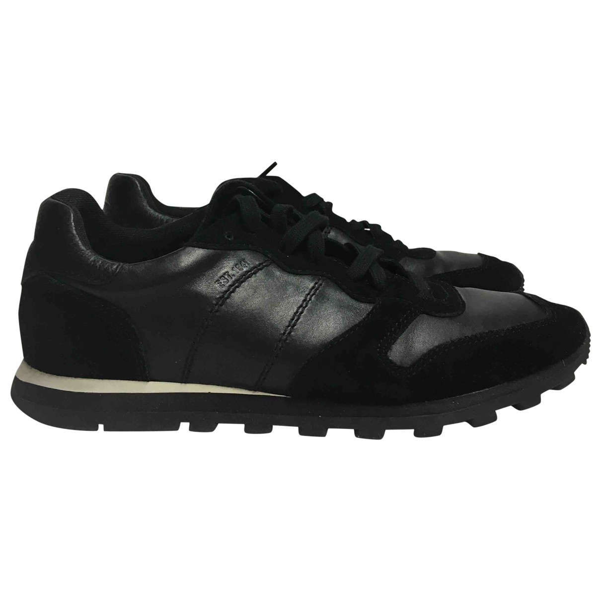 Coach \N Black Leather Trainers for Women 9 US