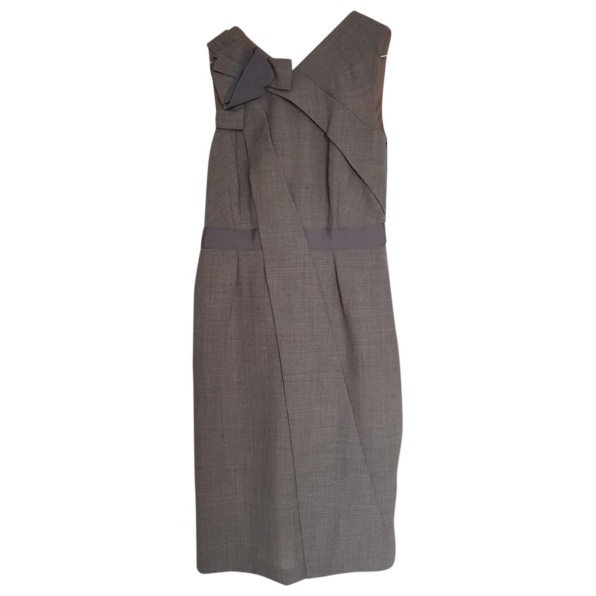 Moschino \N Kleid in  Grau Wolle