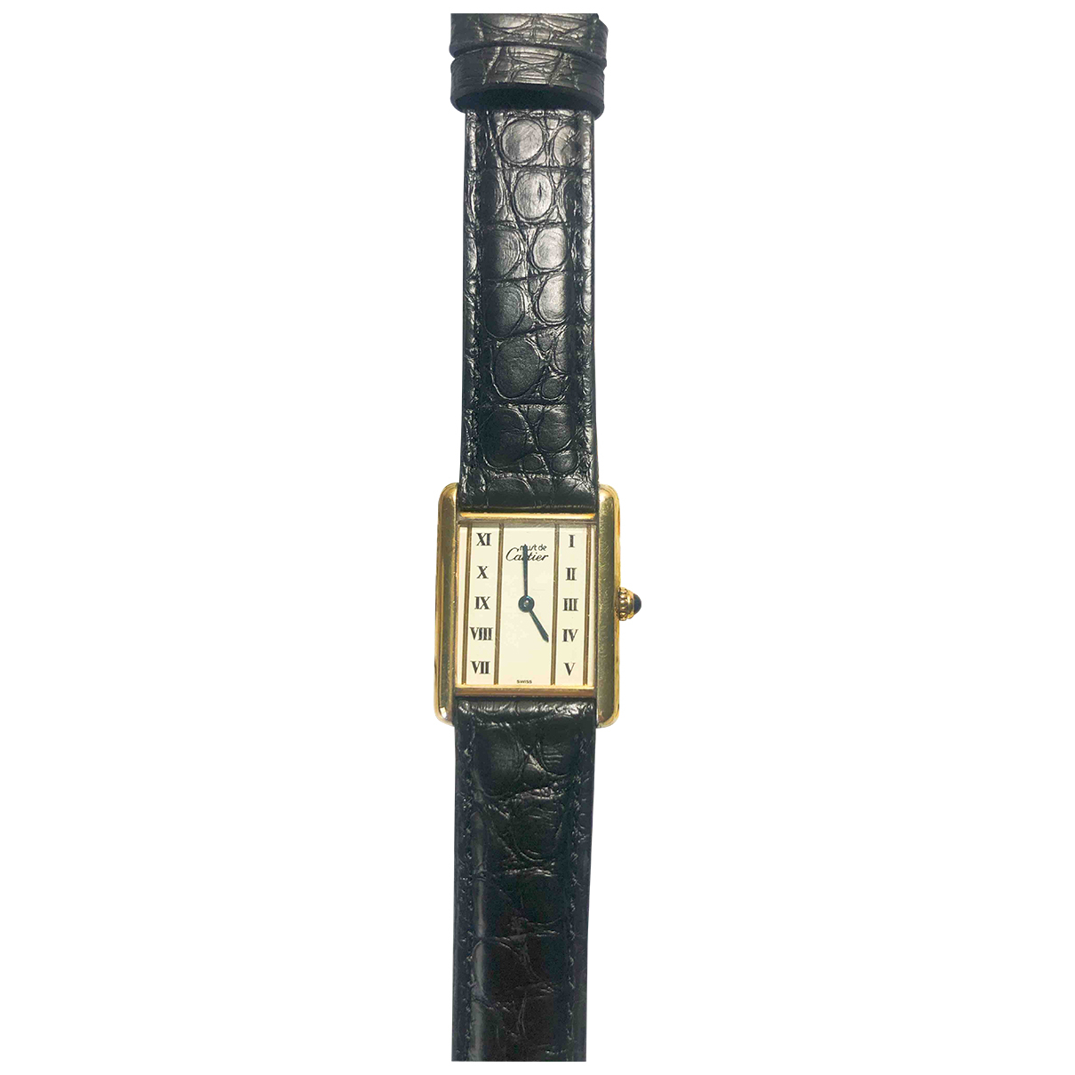 Cartier Tank Must White Silver Gilt watch for Women \N