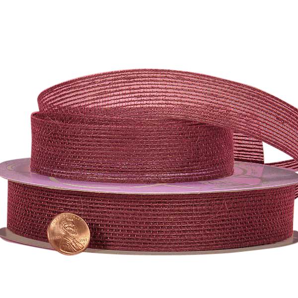 Colored Mesh Wine Jute Ribbon 1