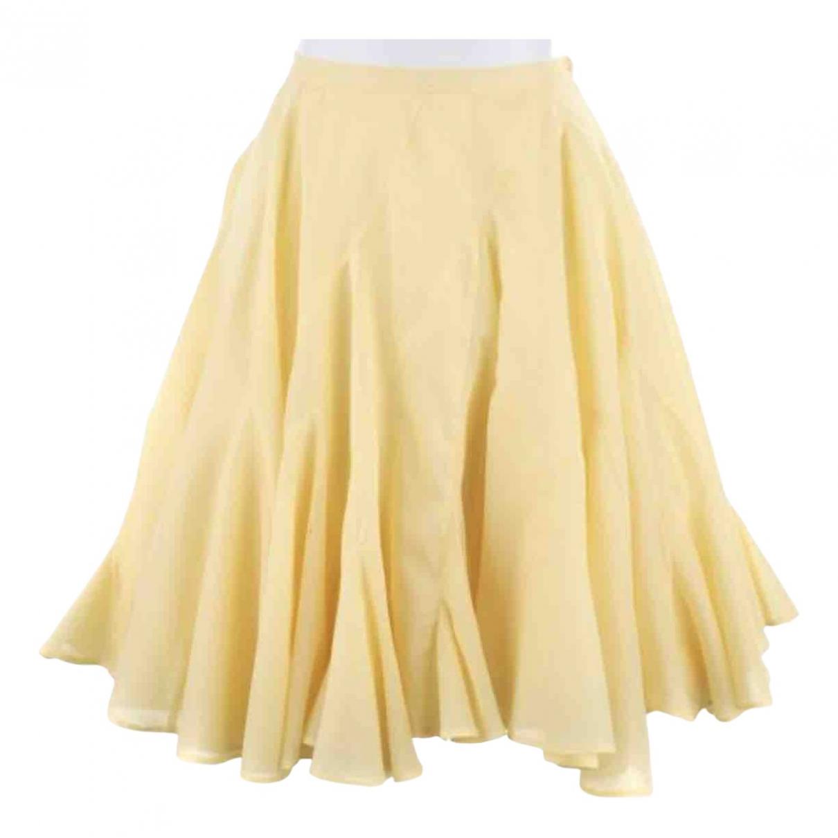 Chalayan - Jupe   pour femme en coton - jaune