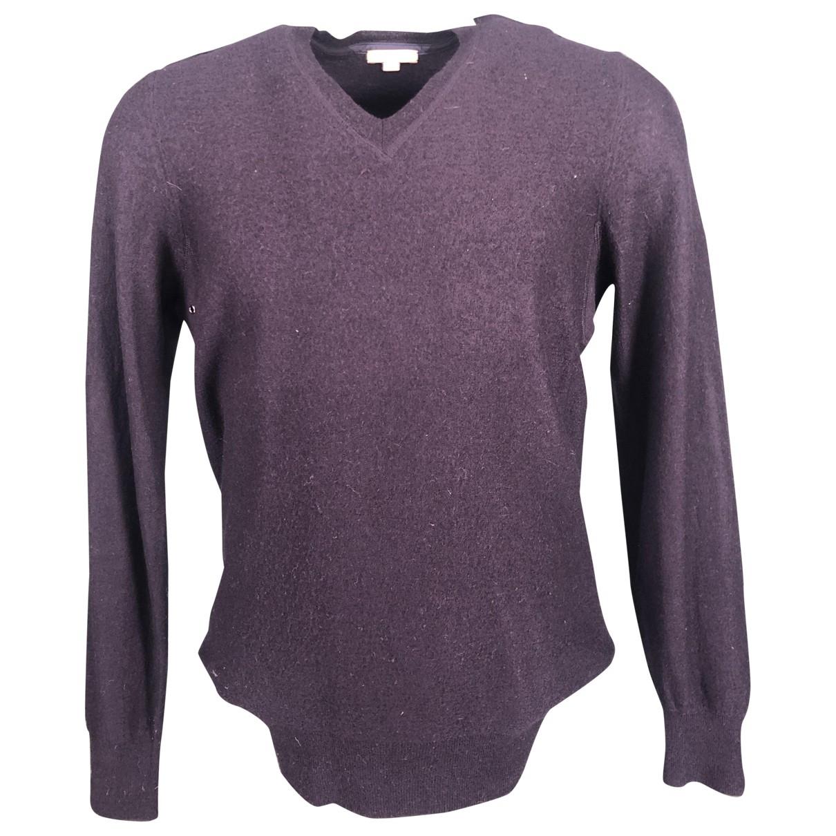 Burberry \N Pullover.Westen.Sweatshirts  in  Blau Wolle