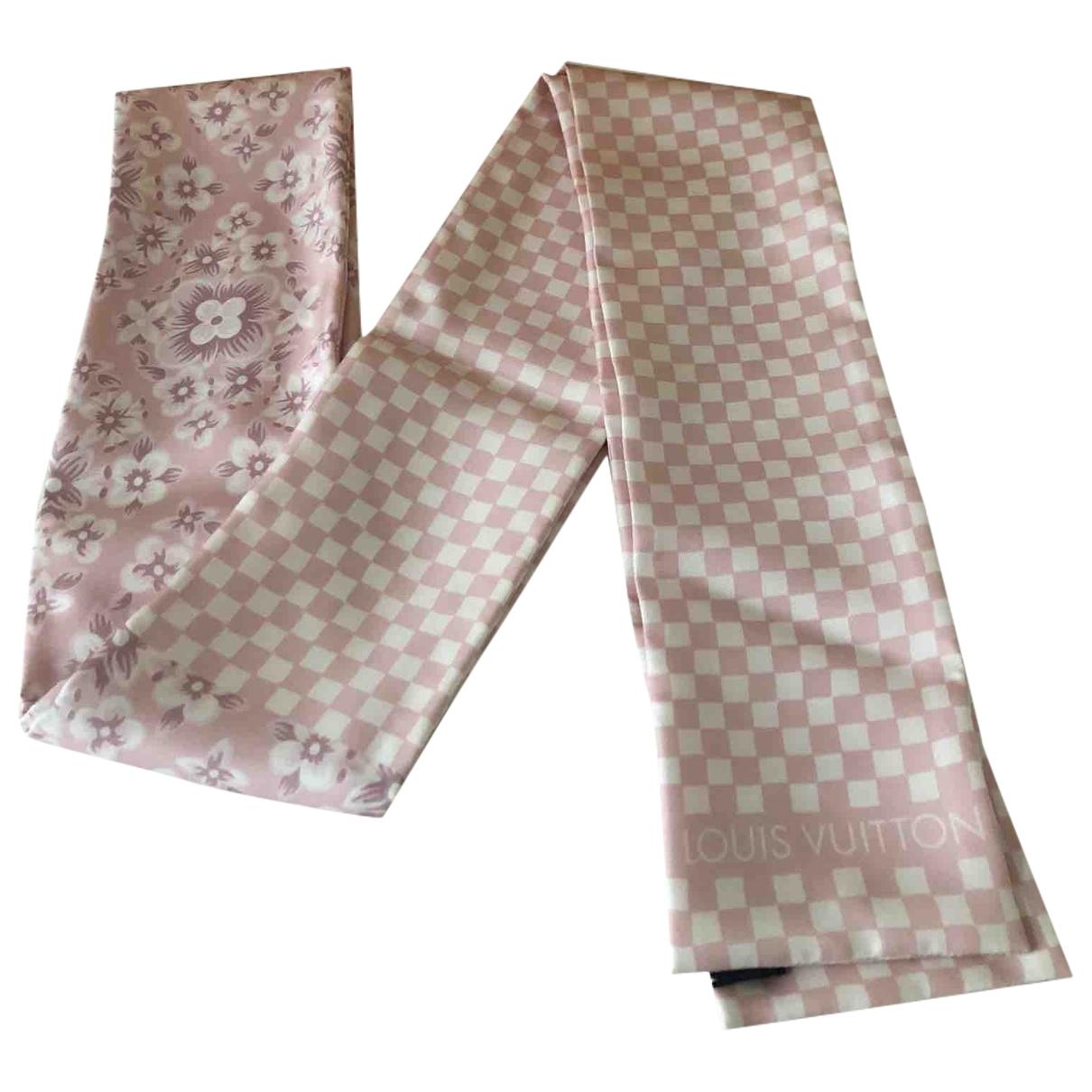 Louis Vuitton - Foulard   pour femme en soie - rose