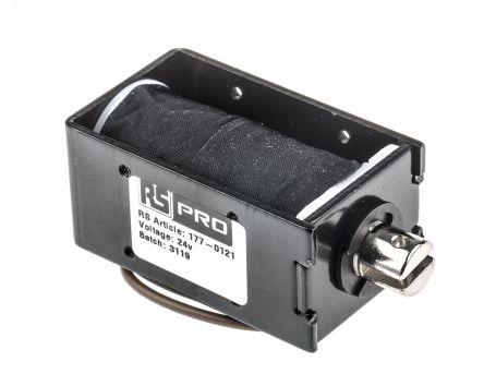 RS PRO Pull Action DC D-Frame Solenoid, 24 V