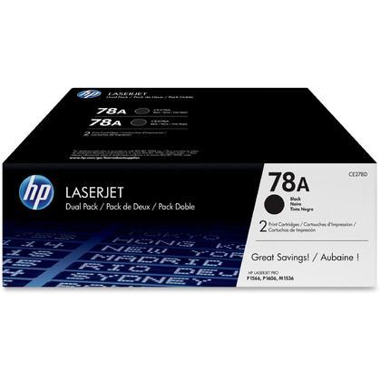 HP LaserJet Pro P1606dn original cartouche de toner noir, 2 paquet