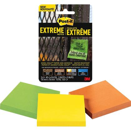 Post-it® Dura-Hold™ Extreme Notes, for Indoor & Outdoor, Water-Resistant, 3