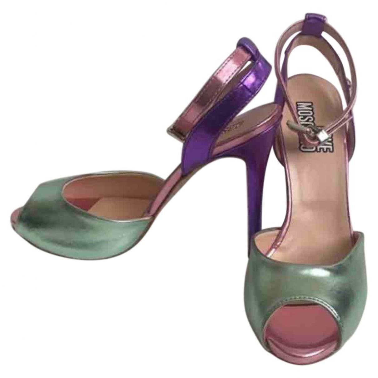 Moschino Love \N Multicolour Leather Heels for Women 38 EU