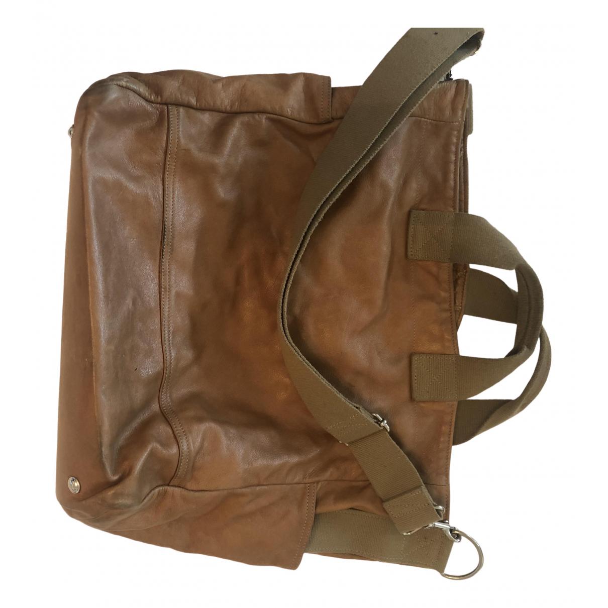 Meilleur Ami \N Camel Leather handbag for Women \N