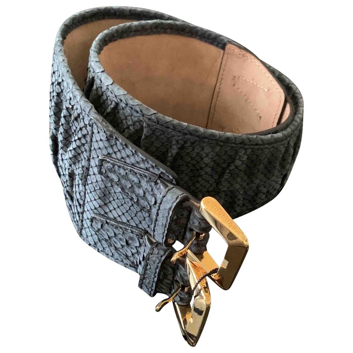 Burberry \N Anthracite Python belt for Women 70 cm