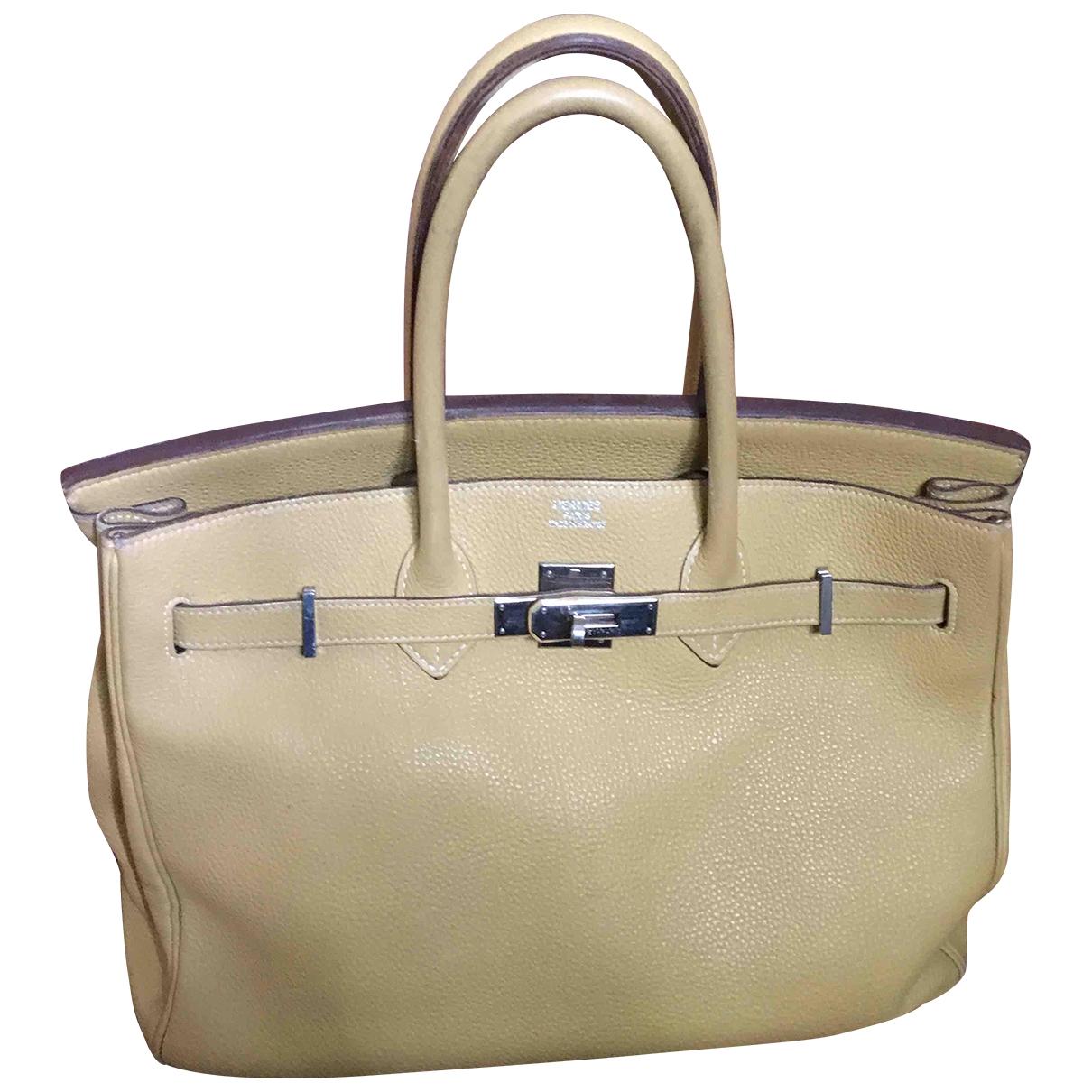 Hermès Birkin 40 Yellow Leather handbag for Women \N