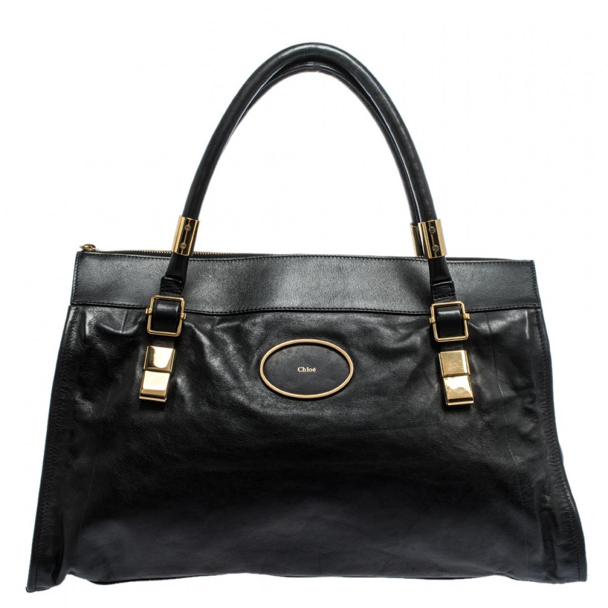 Chloe \N Handtasche in  Schwarz Leder