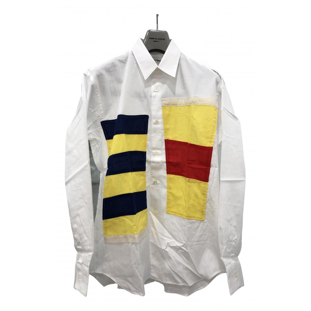 Comme Des Garcons N White Cotton Shirts for Men XS International