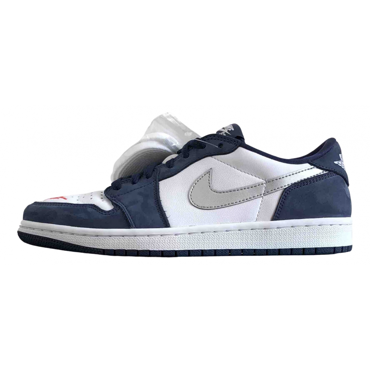 Nike SB Dunk  Navy Leather Trainers for Men 40.5 EU