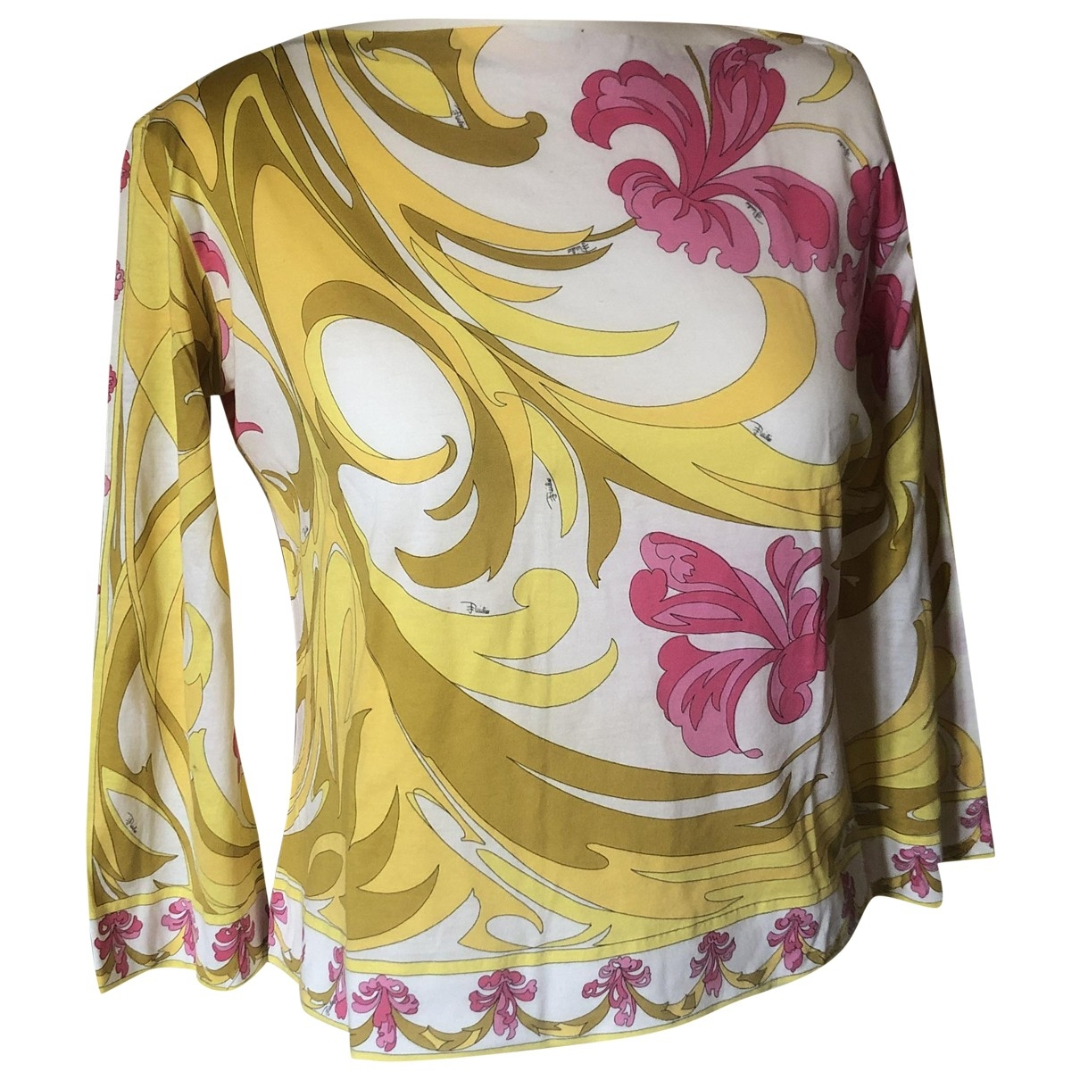 Emilio Pucci \N Top in  Weiss Baumwolle