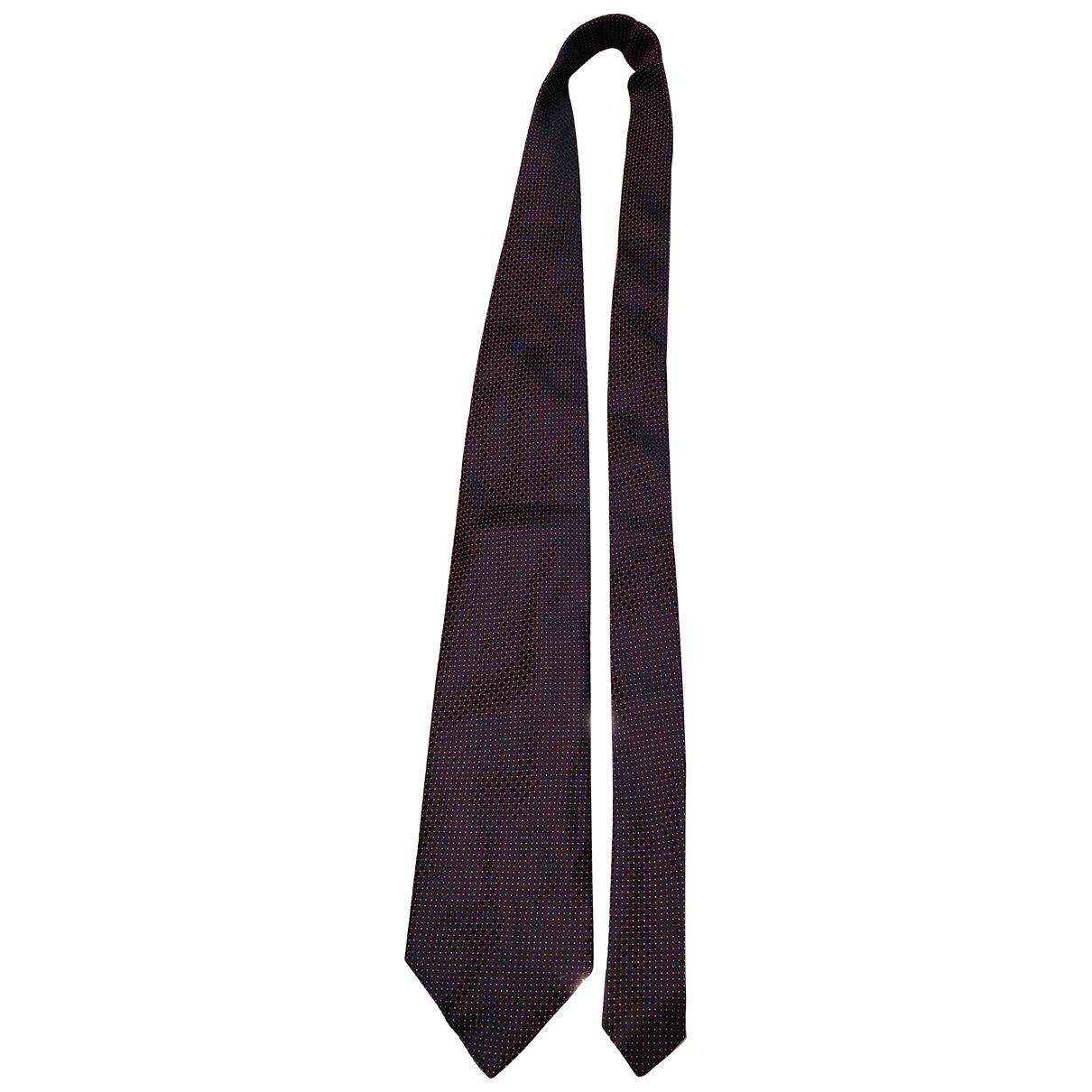 Autre Marque - Cravates   pour homme en soie - bordeaux