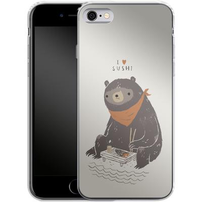 Apple iPhone 6s Silikon Handyhuelle - Sushi Bear von Louis Ros