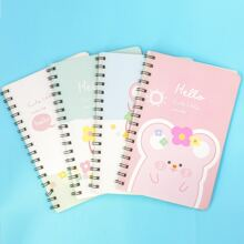 1pack Mouse Print Cover Random Notebook
