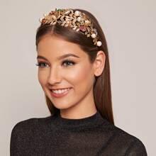 Haarband mit Kunstperlen und Schmetterling Dekor