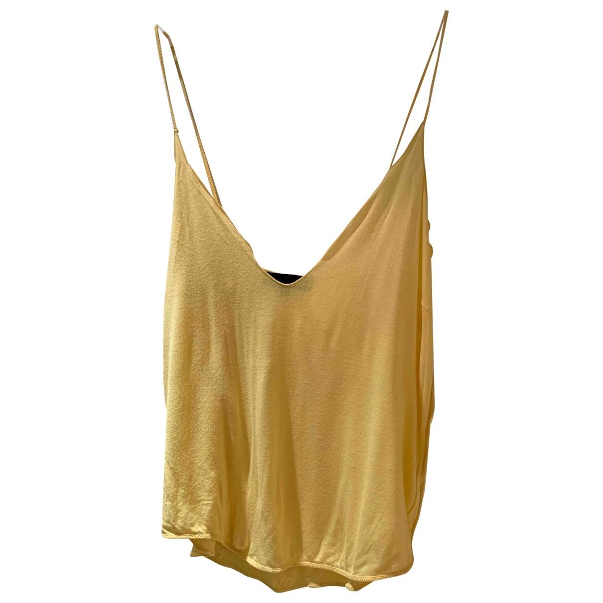Costume National \N Top in  Gelb Baumwolle
