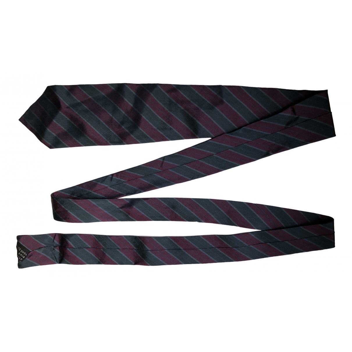 Gianni Versace \N Krawatten in  Bordeauxrot Seide
