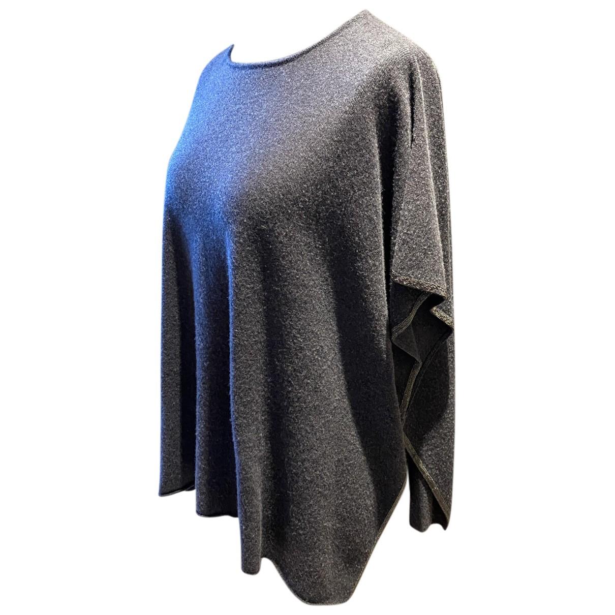 Fabiana Filippi N Grey Wool Knitwear for Women One Size 0-5