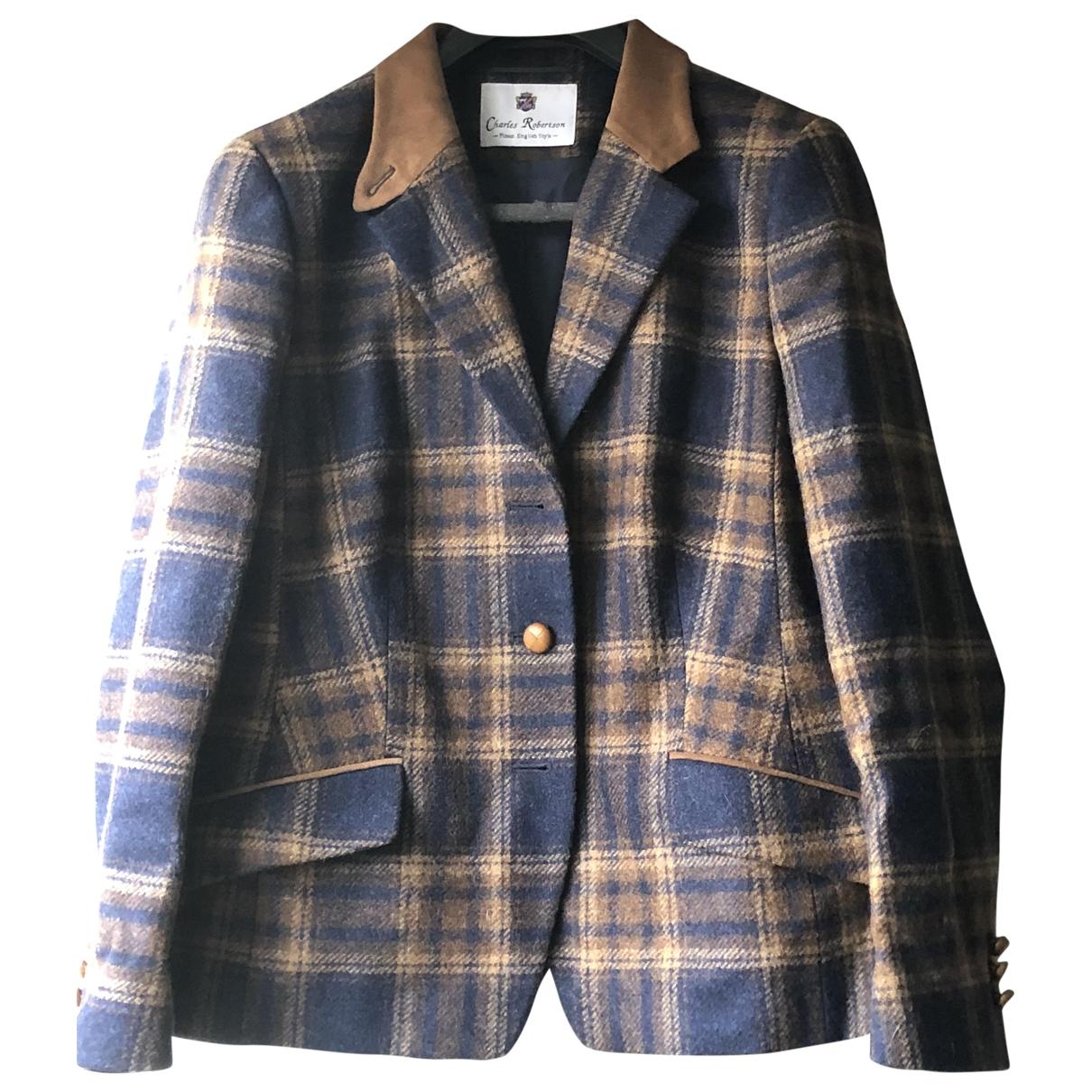 - Veste   pour femme en laine - marine