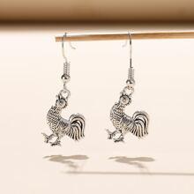 Ohrringe mit Metall Tier Dekor