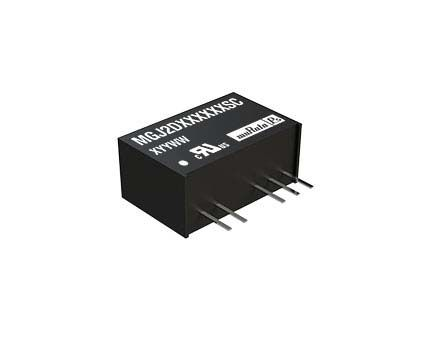 Murata Power Solutions MGJ2 2W Isolated DC-DC Converter Through Hole, Voltage in 10.8 → 13.2 V dc, Voltage out