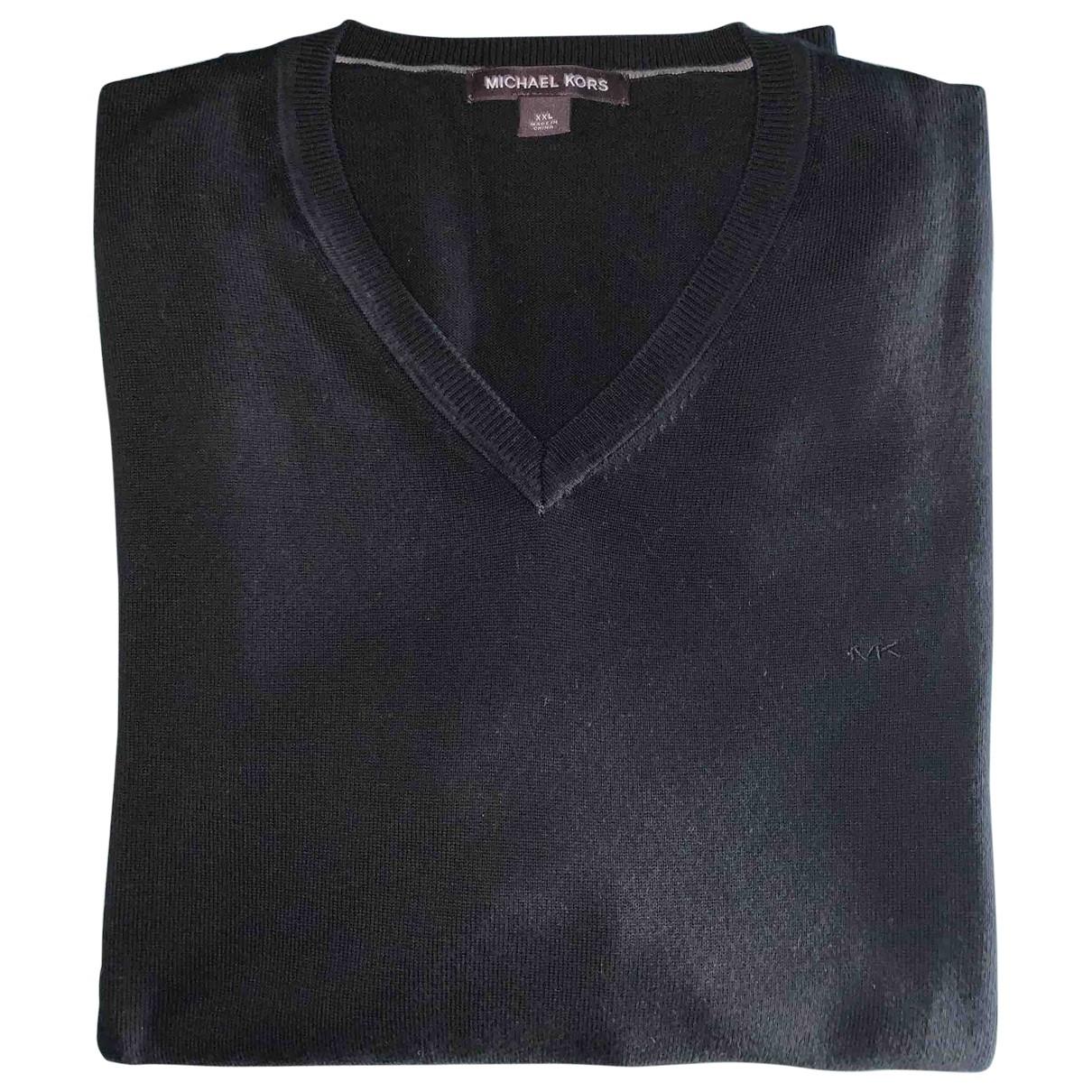 Michael Kors \N Pullover.Westen.Sweatshirts  in  Schwarz Baumwolle
