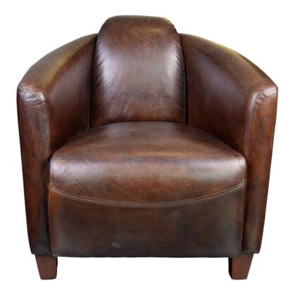 Salzburg Collection PK-1000-20 Club Chair with Birch Frame & Legs in Brown