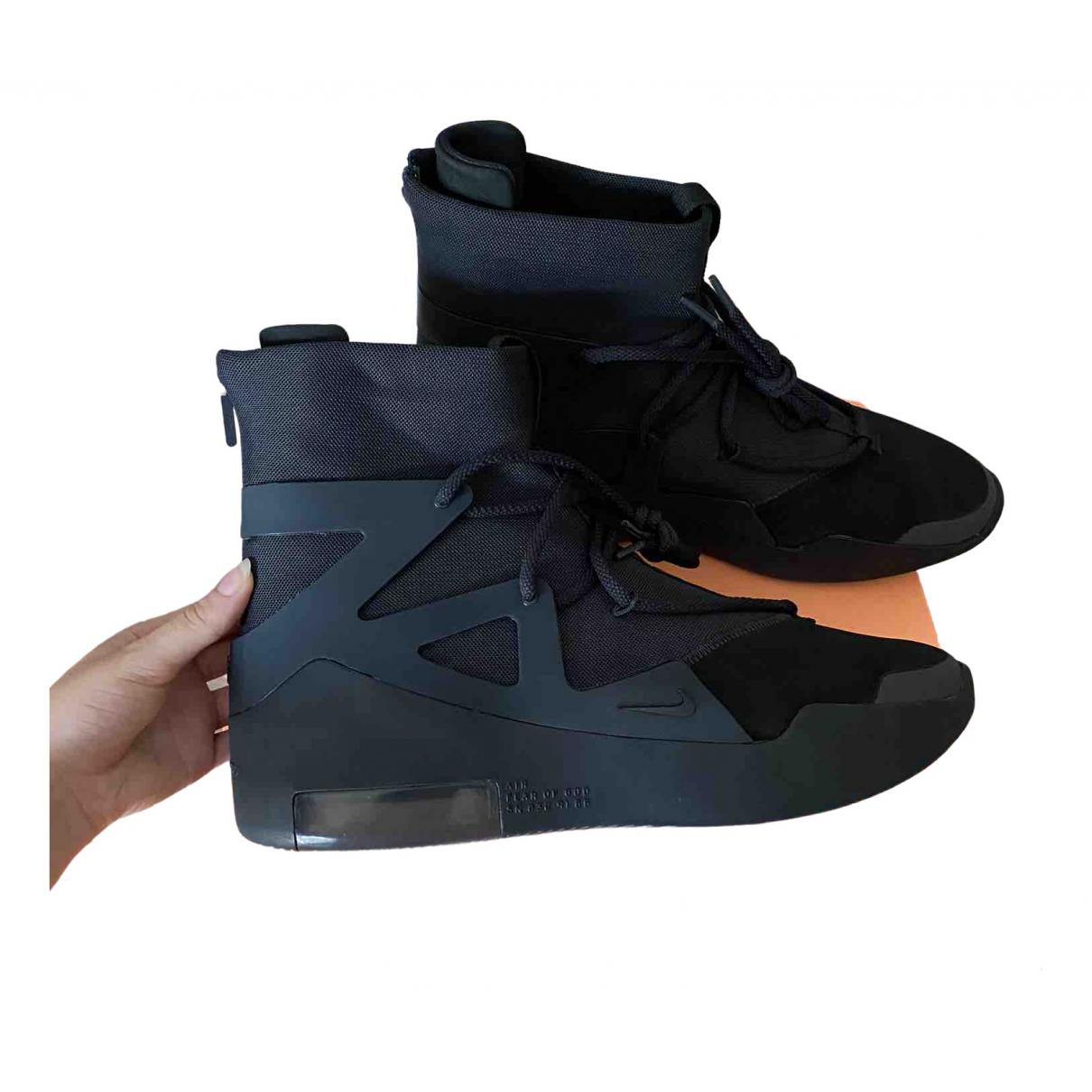 Nike X Fear Of God - Baskets Air FOG 1 pour homme en toile - noir