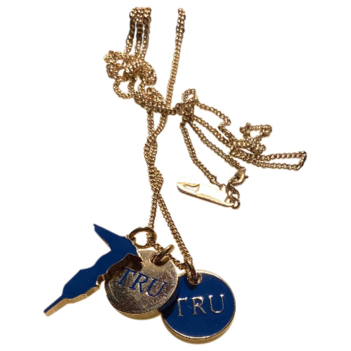 Trussardi - Collier   pour femme en acier - bleu