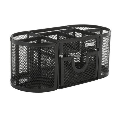 Rolodex Mesh Oval Pencil Cup / Supplies Caddy with 8 Compartments (1746466) 115865