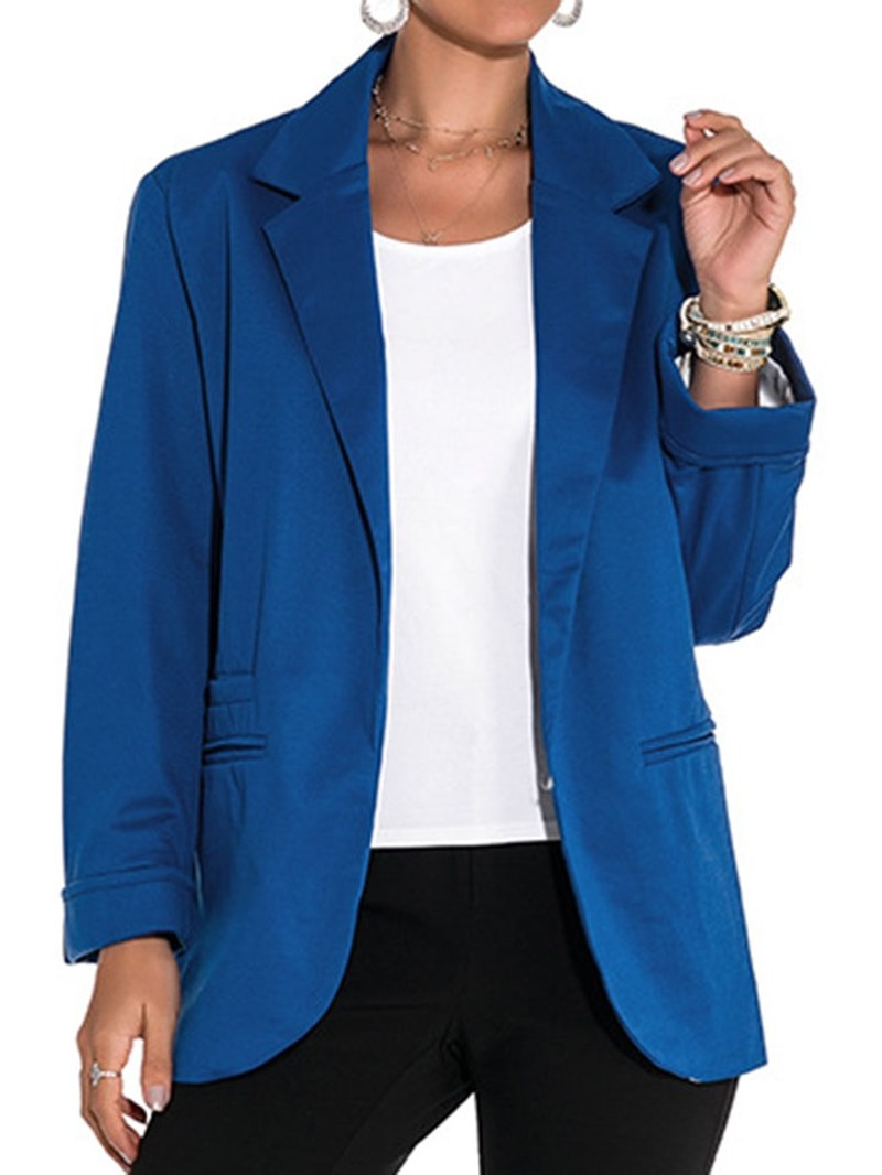 Ericdress Long Sleeve Plain Spring Mid-Length Casual Blazer