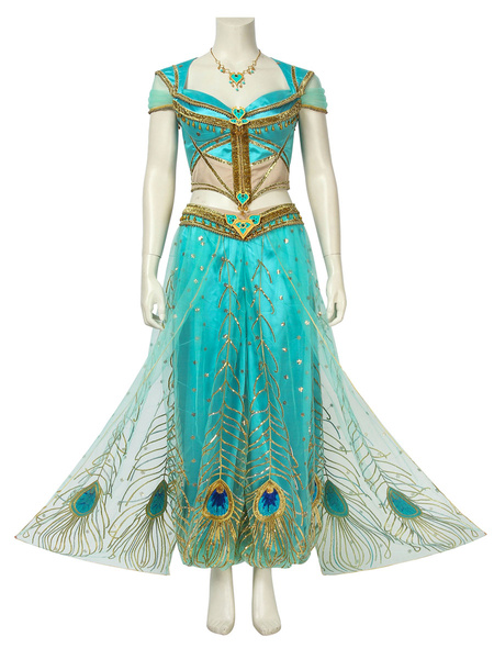 Milanoo Aladdin Film Cosplay Princess Jasmine Disney Cartoon Cosplay Outfit