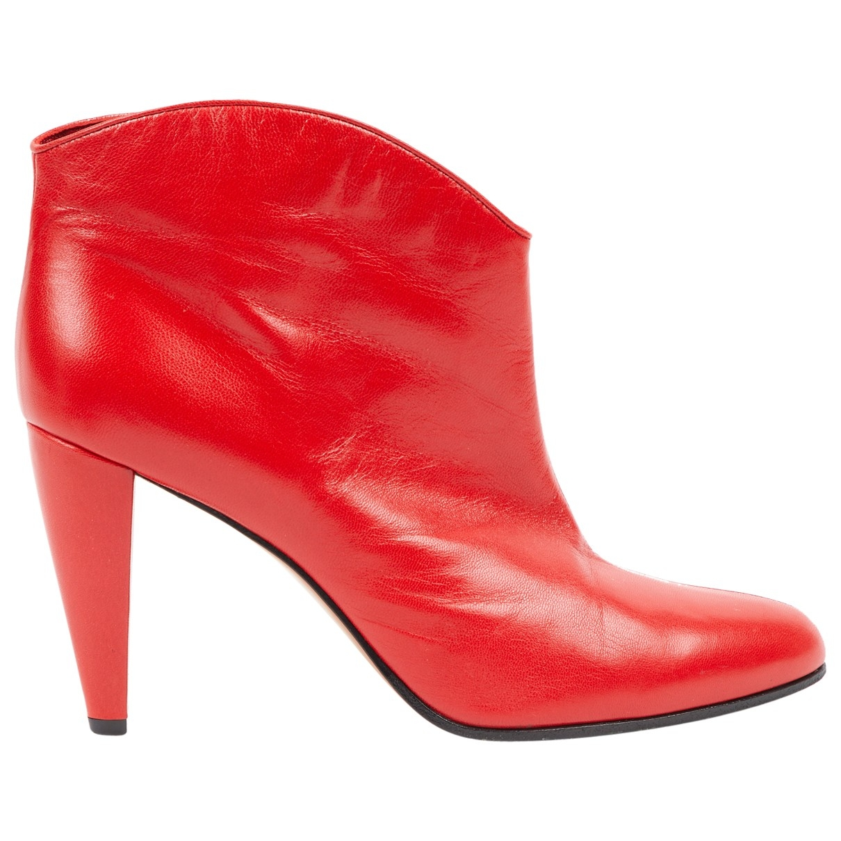Celine \N Red Leather Boots for Women 39 EU