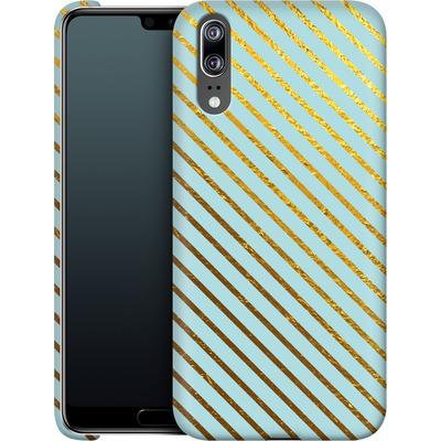 Huawei P20 Smartphone Huelle - Gold Foil Stripe von Khristian Howell