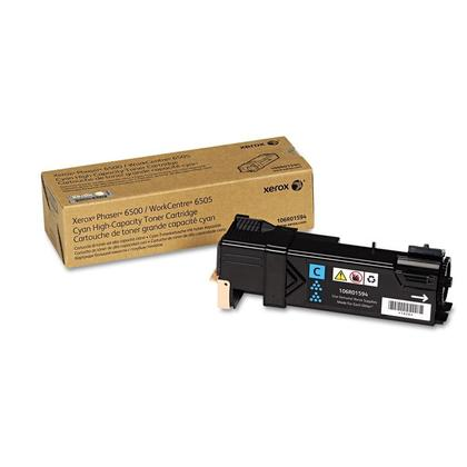 Xerox 106R01594 Original Cyan Toner Cartridge High Yield For Phaser 6500 WorkCentre 6505 Printer