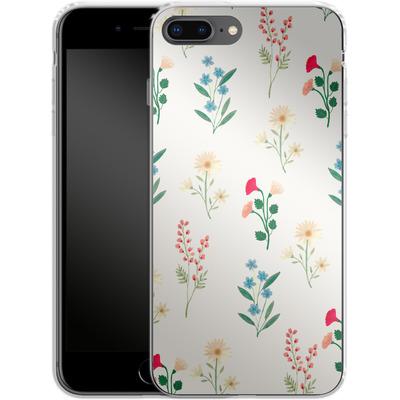 Apple iPhone 8 Plus Silikon Handyhuelle - Leafy Green von Iisa Monttinen