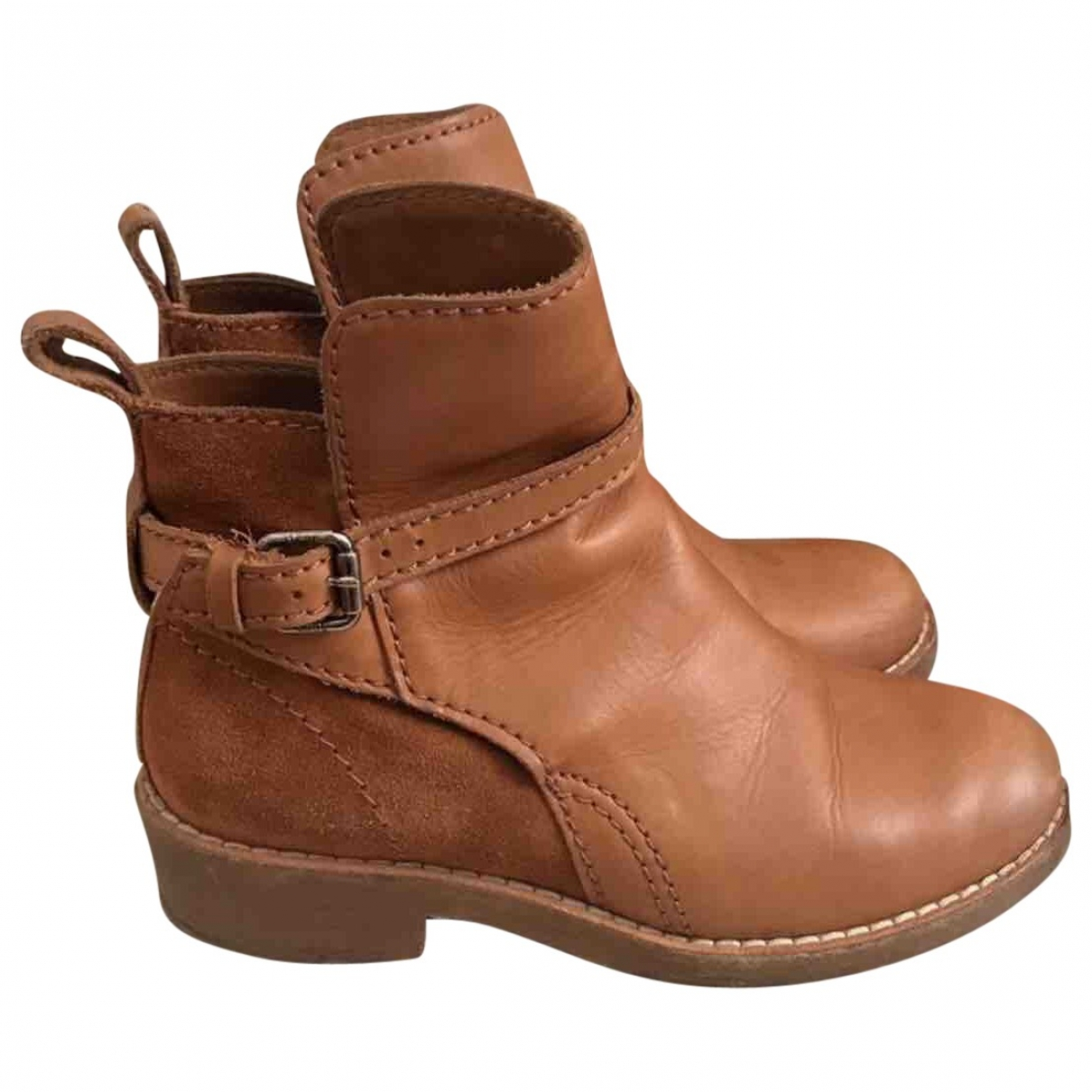 Acne Studios Cypress Camel Leather Ankle boots for Women 35 EU