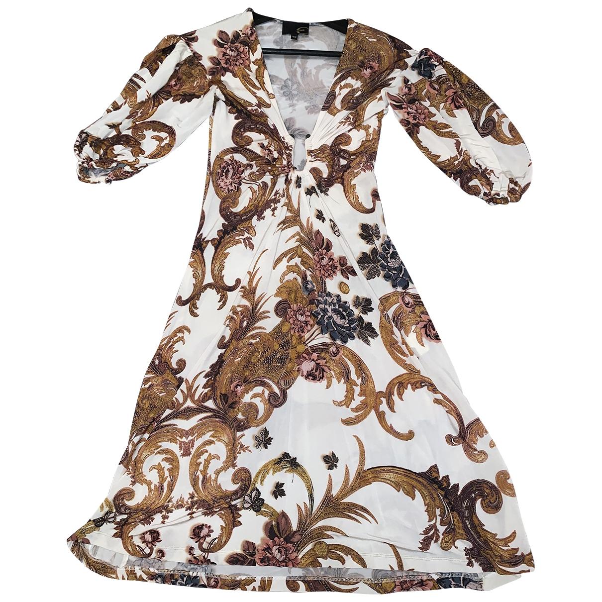 Just Cavalli \N Kleid in  Beige Viskose