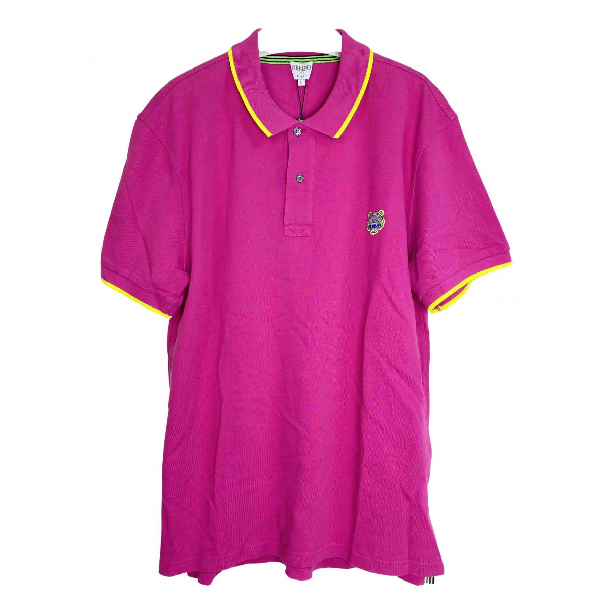 Kenzo - Polos   pour homme en coton - rose
