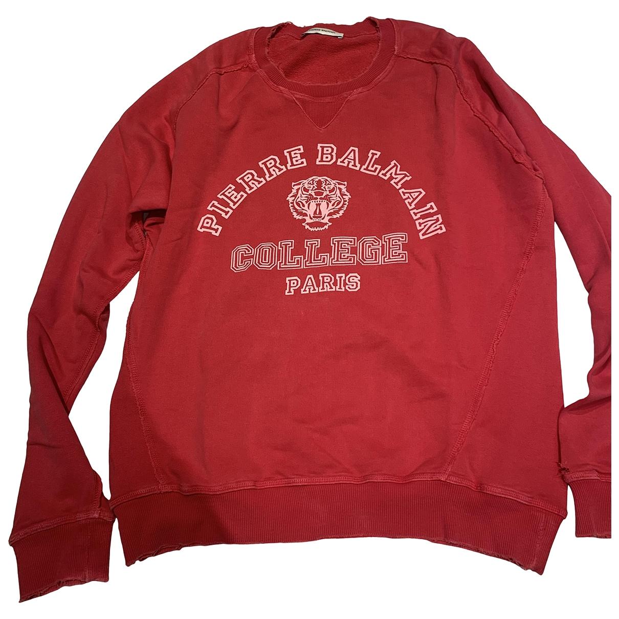 Pierre Balmain \N Pullover.Westen.Sweatshirts  in  Rot Baumwolle