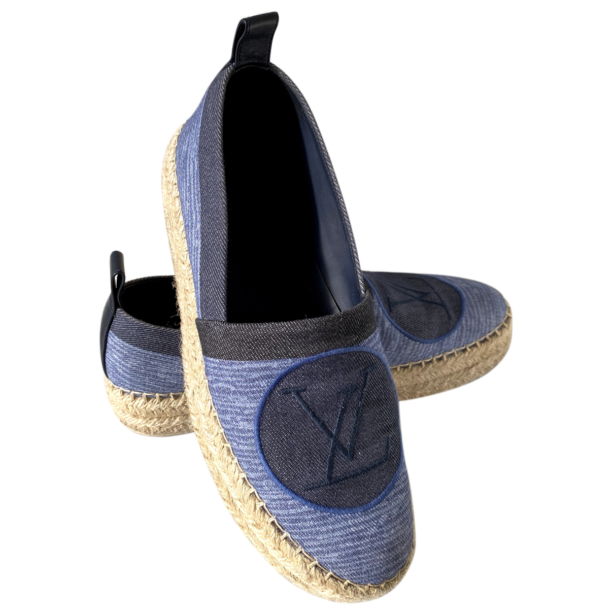 Louis Vuitton Seashore Espadrilles in  Blau Leinen