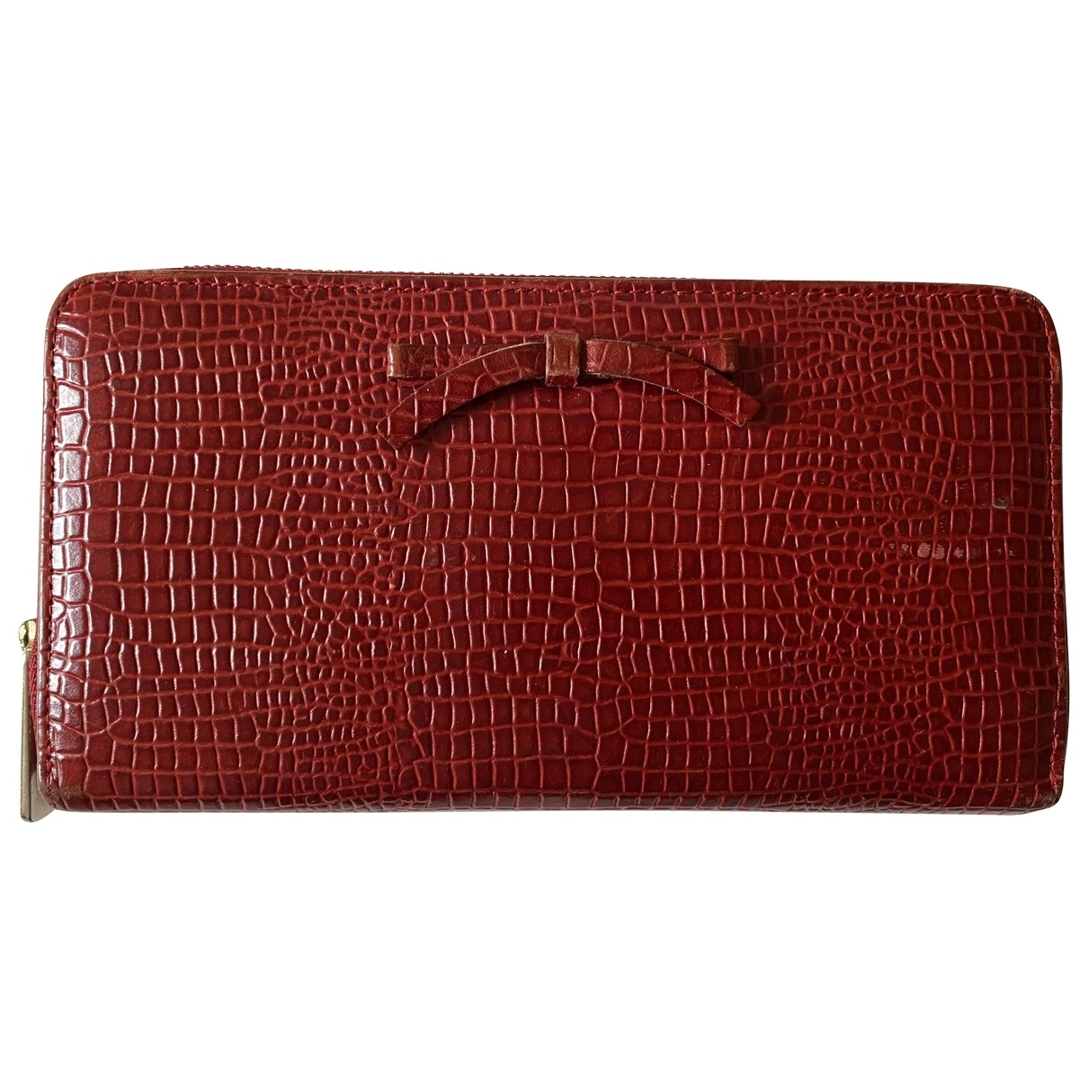 Emporio Armani \N Red Leather wallet for Women \N