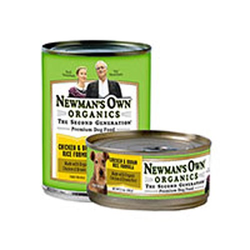 Organics Chicken and Brown Rice Formula for Dogs 12.7 OZ(case of 6) by Newman's Own Organics