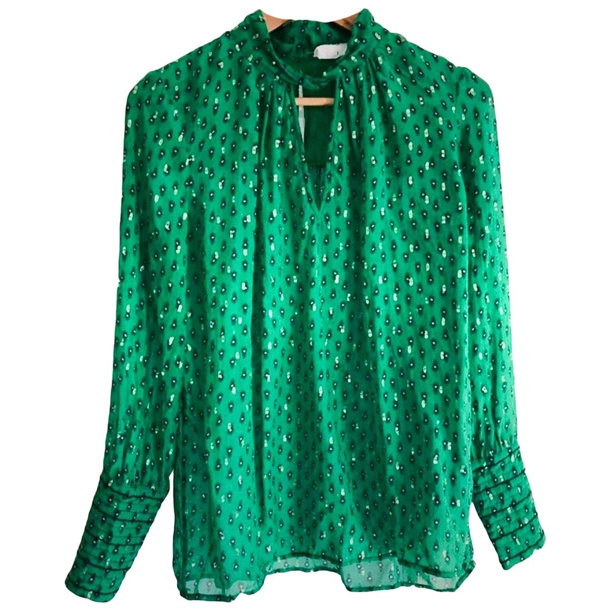Ba&sh Spring Summer 2020 Green Silk  top for Women 36 FR