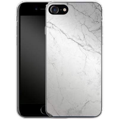 Apple iPhone 7 Silikon Handyhuelle - White Marble von caseable Designs