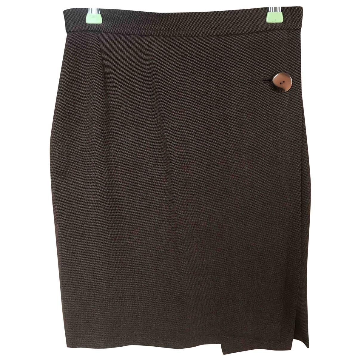 Yves Saint Laurent - Jupe   pour femme en laine - marron