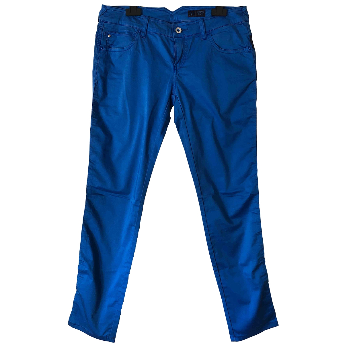 Armani Jeans \N Blue Cotton Trousers for Women 44 IT